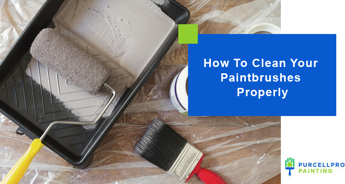 How To Clean Your Paintbrushes Properly   Purcellpro Painting   Willow Grove PA Painter Services